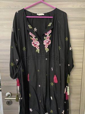 Next Vestido tipo túnica negro-rosa