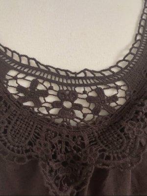 b.p.c. Bonprix Collection Camicetta a maniche corte marrone Cotone