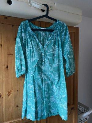 H&M Shirt Tunic turquoise-natural white