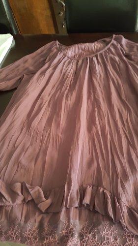 Aniston Vestido tipo túnica burdeos
