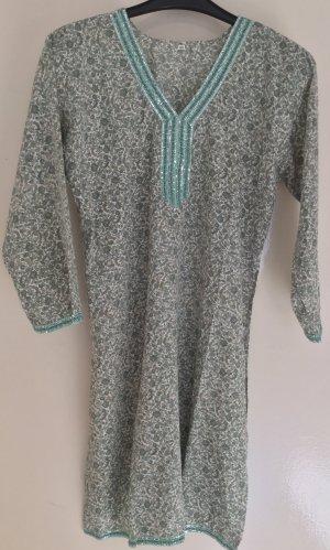 Tuniekblouse wit-grijs-groen Polyester