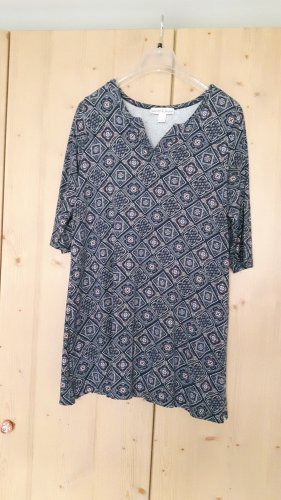 Tuniekblouse blauw-wit Viscose