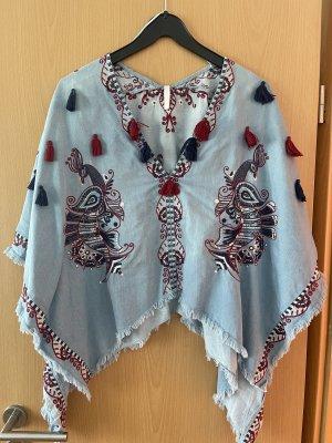 Zara Trafaluc Poncho in maglia multicolore