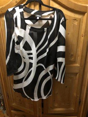 Ambria Tunic Blouse black-white