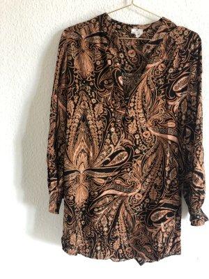 H&M Tunic Dress cognac-coloured-black