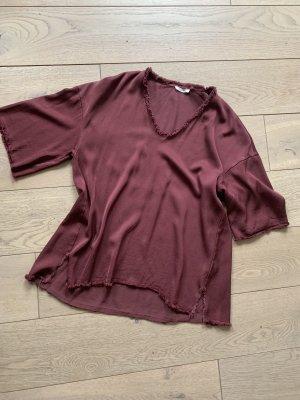 American Vintage Tunika głęboka czerwień