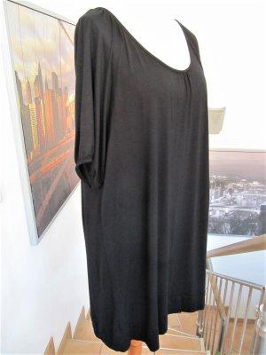Janina Sukienka z rękawem balonowym czarny Wiskoza