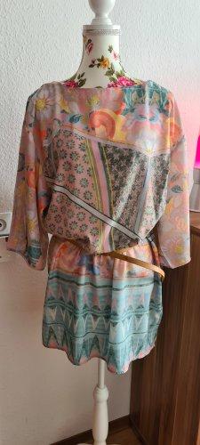 Alba Moda Sukienka mini Wielokolorowy Tkanina z mieszanych włókien