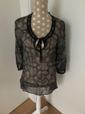 Ella Moss Tunique-blouse blanc-noir