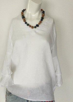Tunika-Bluse aus reinem Leinen Gr 36