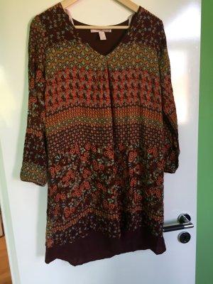 Tunika-Bluse bzw. kurzes Kleid von Forever 21 im Hippie-Paisley-Muster