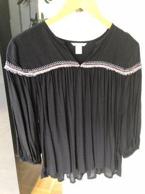 Tunika Bluse H&M schwarz 36