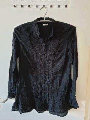 Tunika Bluse Hemd schwarz Oberteil Gr. S-M neuwertig Avanti