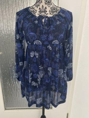 Tunika bluse in blau