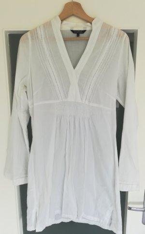 Tunika Bluse in weiß von Long Tall Sally LTS, Gr. S große Frauen