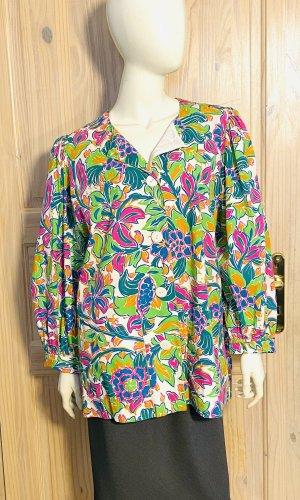 Saint Laurent Tunic Blouse multicolored cotton