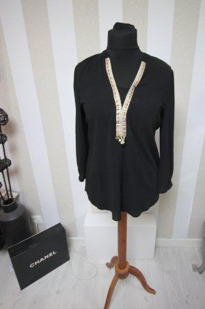 Camisa tipo túnica negro-color oro