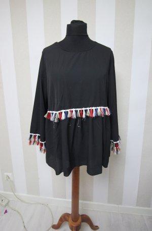 Tunika Bluse Shirt Fransen