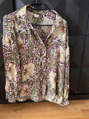 Tunika Bluse Shirt lila grün S