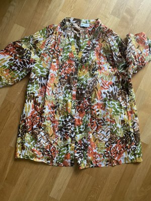 Tunika Bluse Shirt orange grün XXL