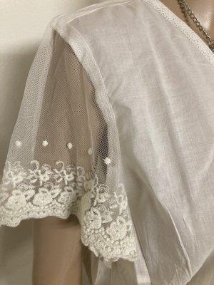 Rainbow Blusa in merletto bianco sporco-crema Cotone