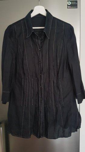 Apanage Bluzka tunika biały-ciemnoniebieski