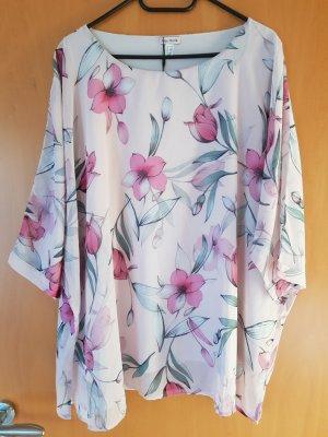 Alba Moda Bluzka tunika stary róż-szaro-zielony