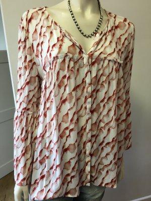 Ba&sh Camicetta a maniche lunghe bianco-marrone-rosso