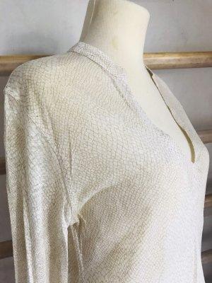 Majestic Blusa a tunica color cammello-crema