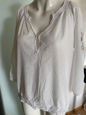 Monrow Tunic Blouse white-beige cotton