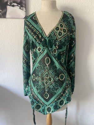 Oasis Tunique-blouse vert foncé-doré