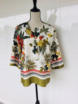 Tunika Bluse Zara tropical Print xs bunt neuwertig