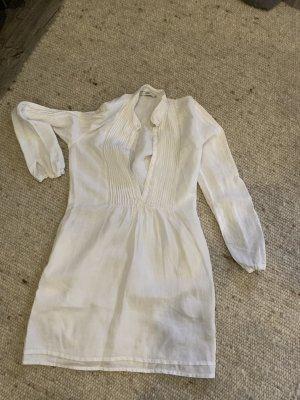 0039 Italy Blouse en lin blanc