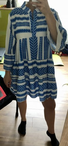 Effeny Tunic Dress white-blue