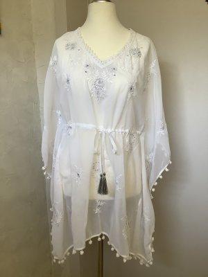 Apart Tunique-blouse blanc-argenté