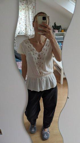 Zara Blusa de túnica blanco puro