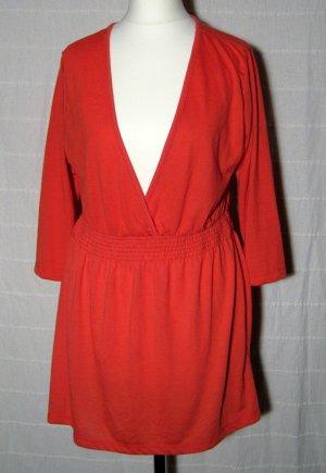 Tunika Größe 44 Rot Crossover V-Ausschnitt