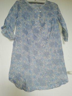 Zara Basic Abito a tunica azzurro Cotone
