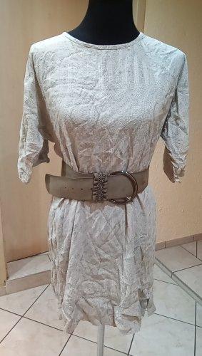 HM Sukienka tunika kremowy-beżowy