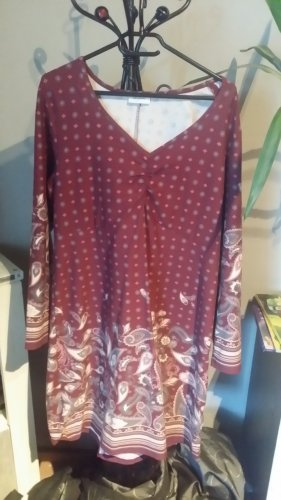 Boysen's Vestido tipo túnica burdeos