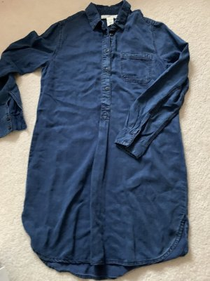 H&M L.O.G.G. Tunic Dress dark blue