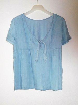 Esprit Blouse en jean bleu azur-bleu clair