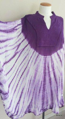 Tunika Kaftan Batik Kleid Größe von 36-60