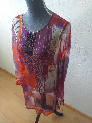 Passport Vestido tipo túnica multicolor Seda