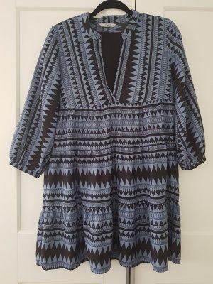 Only Vestido tipo túnica negro-azul celeste