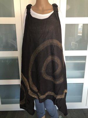 Ohne Tunic Dress dark brown-cream