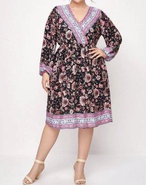 SheIn Vestido tipo túnica multicolor