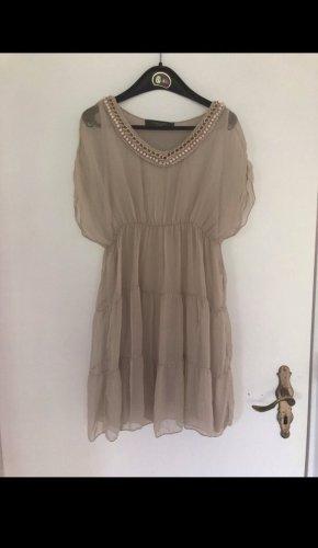 Chic & Mit Tunic Dress light grey-dusky pink