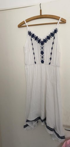 Flounce Dress white-blue