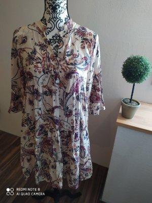 new collection Sukienka tunika w kolorze białej wełny-ciemnoczerwony